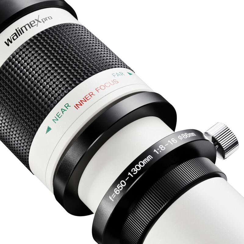 walimex pro 650-1300/8-16 DSLR mit T2 Adapter MFT + UV Filte