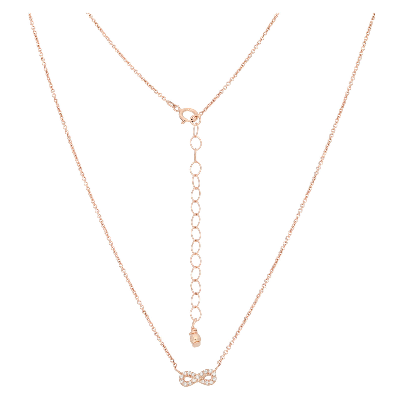Halskette Infinity rosevergoldet echt Silber