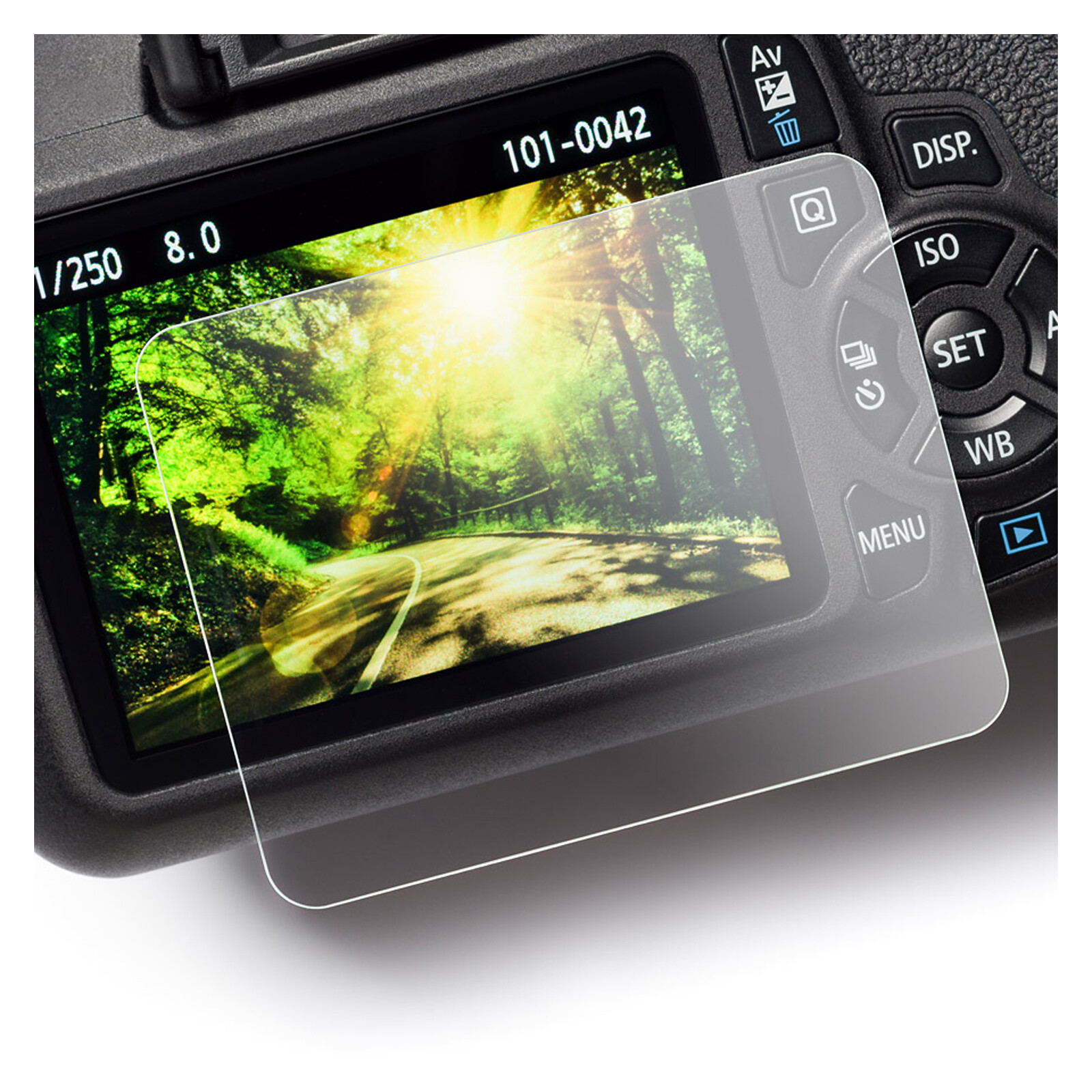 EasyCover Glasfolie Canon 1300D
