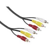 Hama 43134 Video-Kabel 3 Cinch-Stecker - 3 Cinch-Stecker