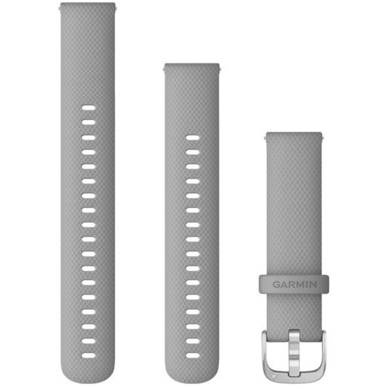 Garmin Band 18mm Silikon hellgrau silber