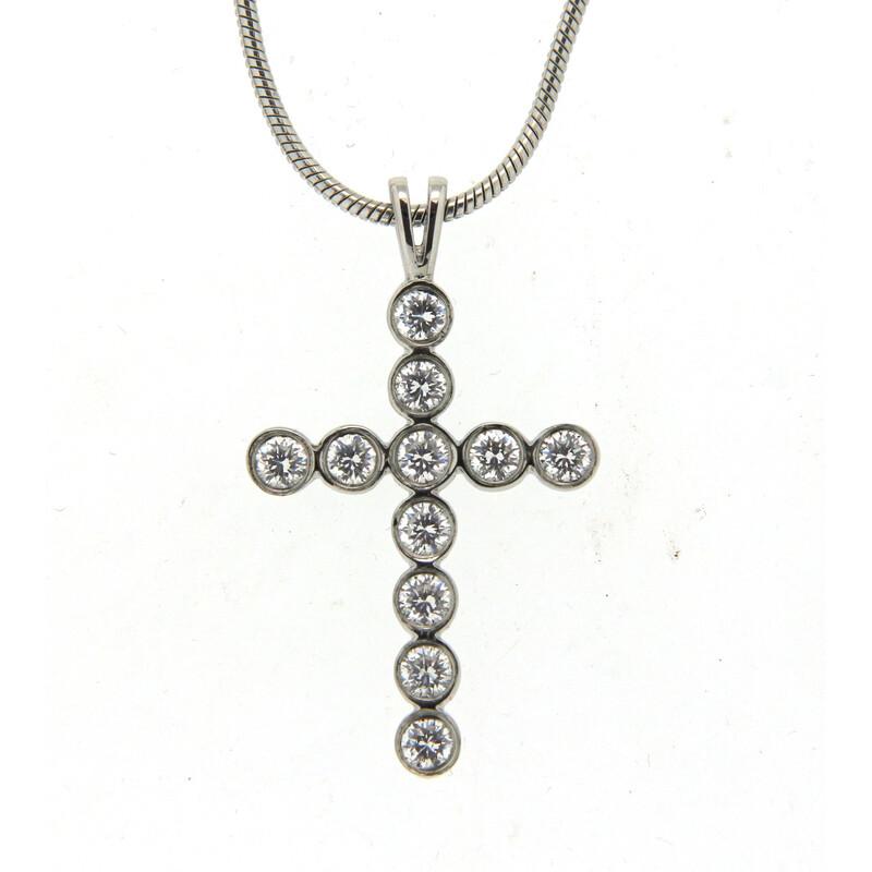 Kreuzanhänger mit Kristallen auf Kette