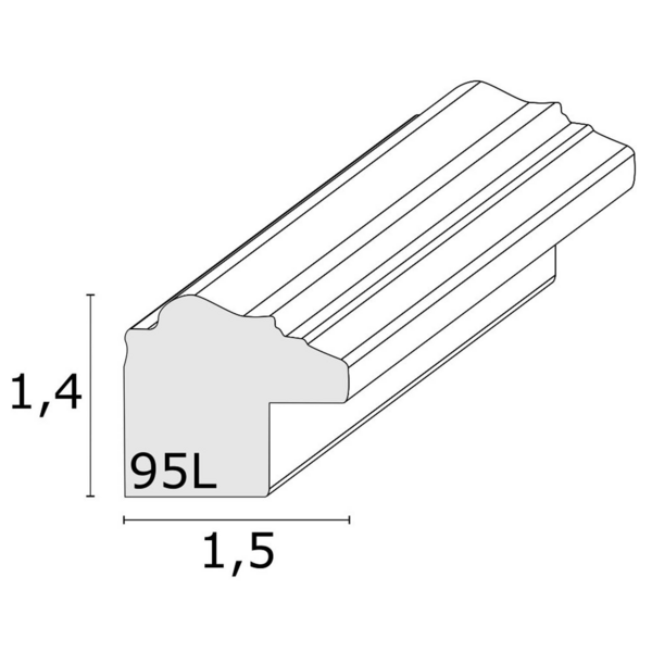 Bilderrahmen Deknudt 20x30cm Kunststoff silber S95LD1