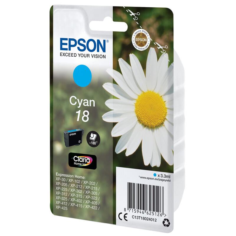 Epson 18 T1802 Tinte Cyan 3,3ml