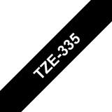 Brother TZE335 12mm schwarz/weiß