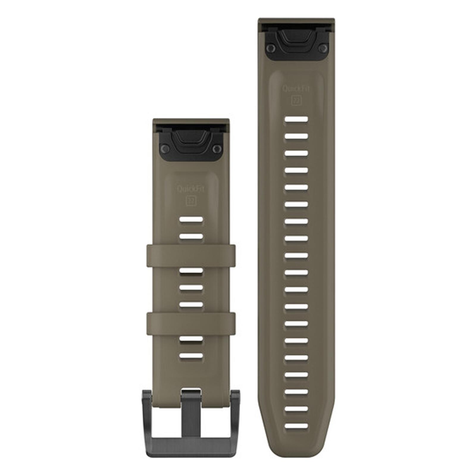 Garmin QuickFit 22 Uhrenband Silikon Hellbraun
