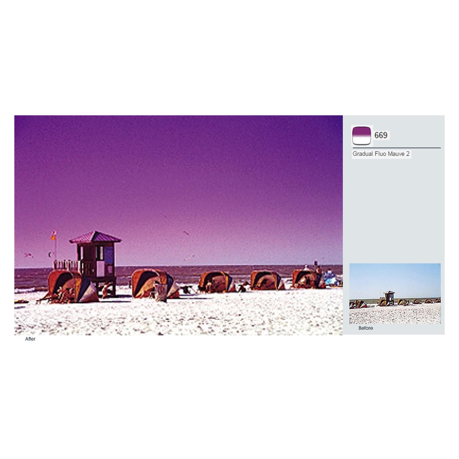 Cokin A669 Verlauf leuchtend Violett 2