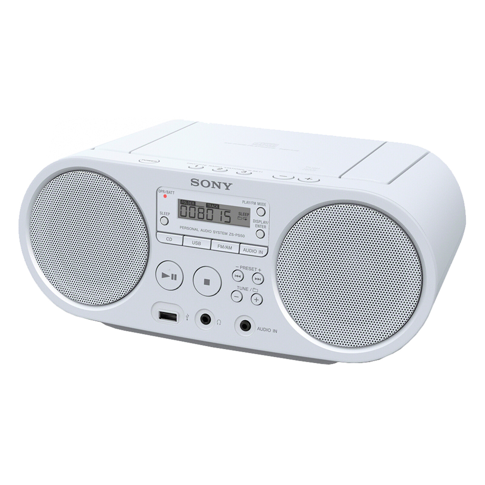Sony ZS-PS50W CD Boombox