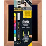 Securit Woody Wandtafel Teak 24x20 inkl. 1 Kreidestift