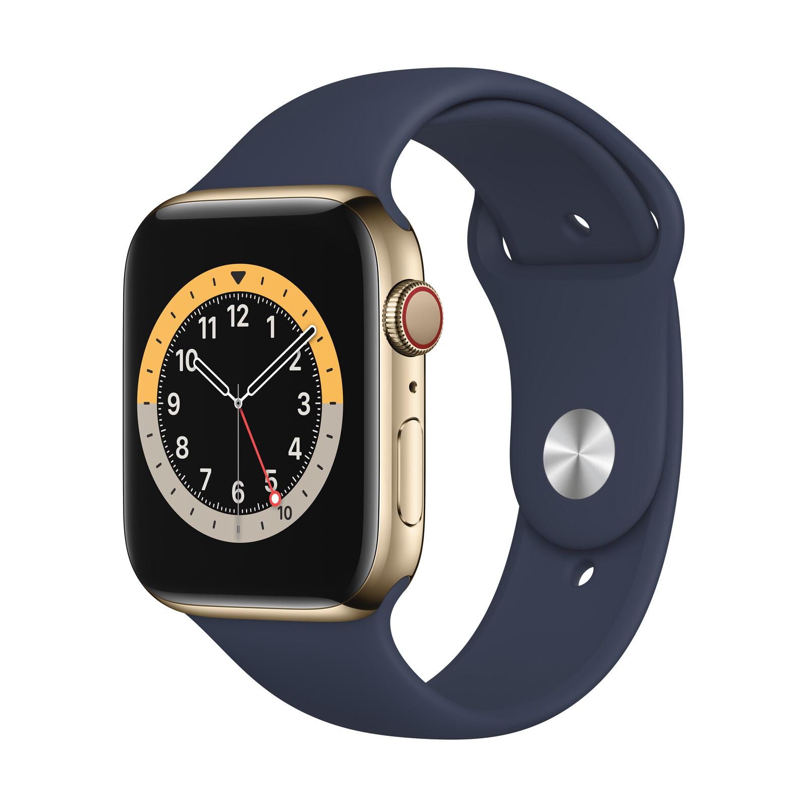Apple Watch S6 GPS+Cellular Edelstahl gold 44m