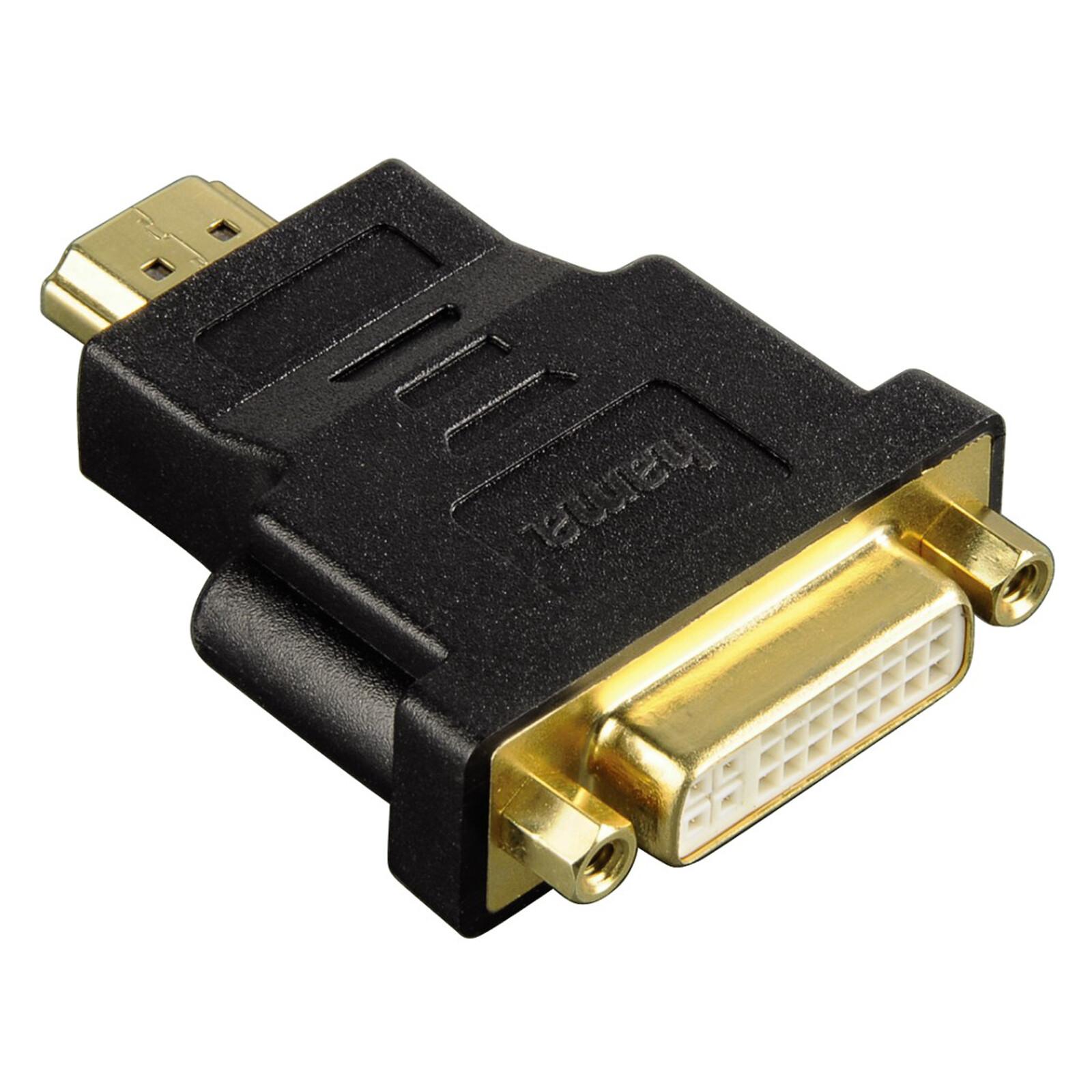 Hama 34036 HDMI Adapter Stecker DVI-D Kupplung schwarz