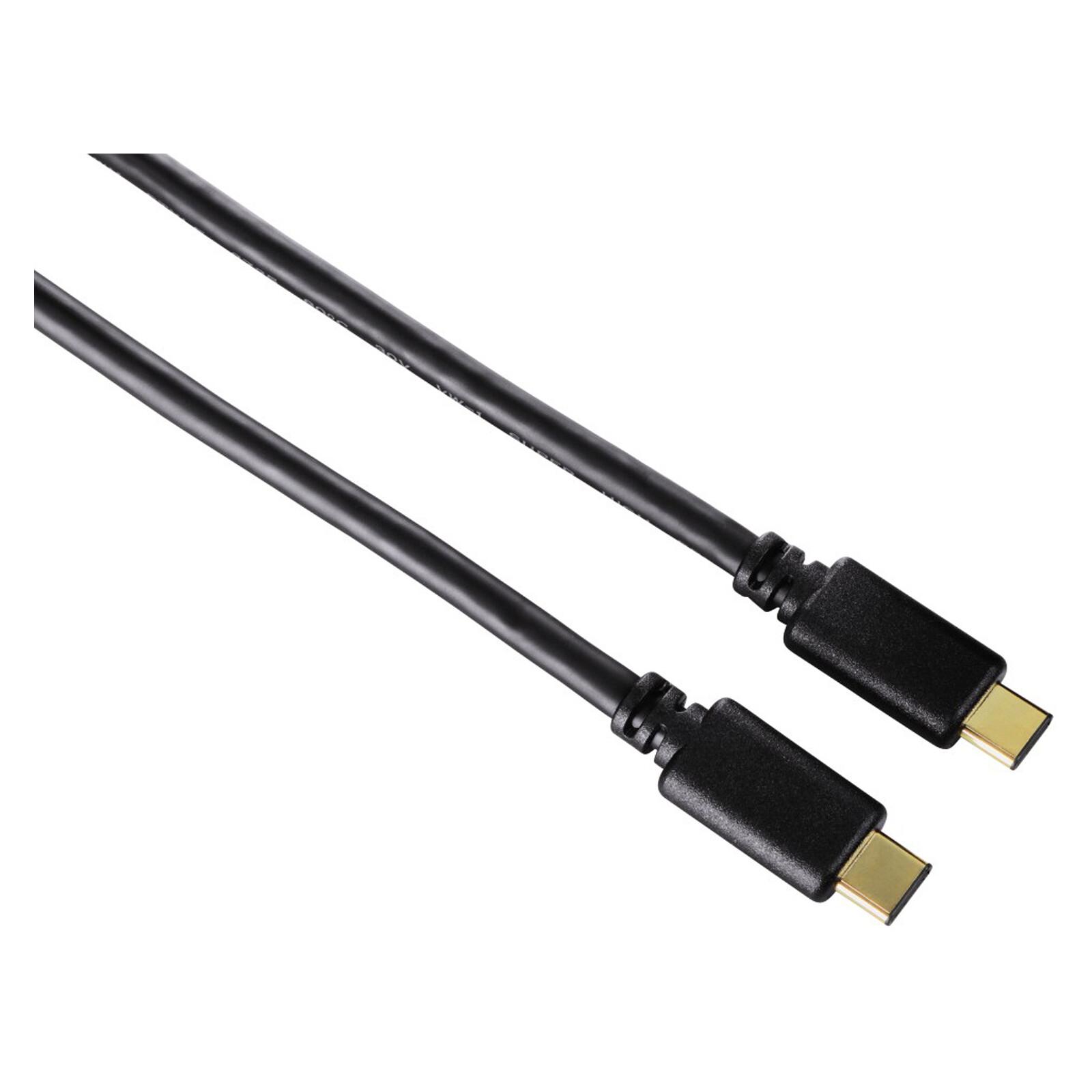 Hama 135719 USB 2.0 Type C Kabel vergoldet 0,75m