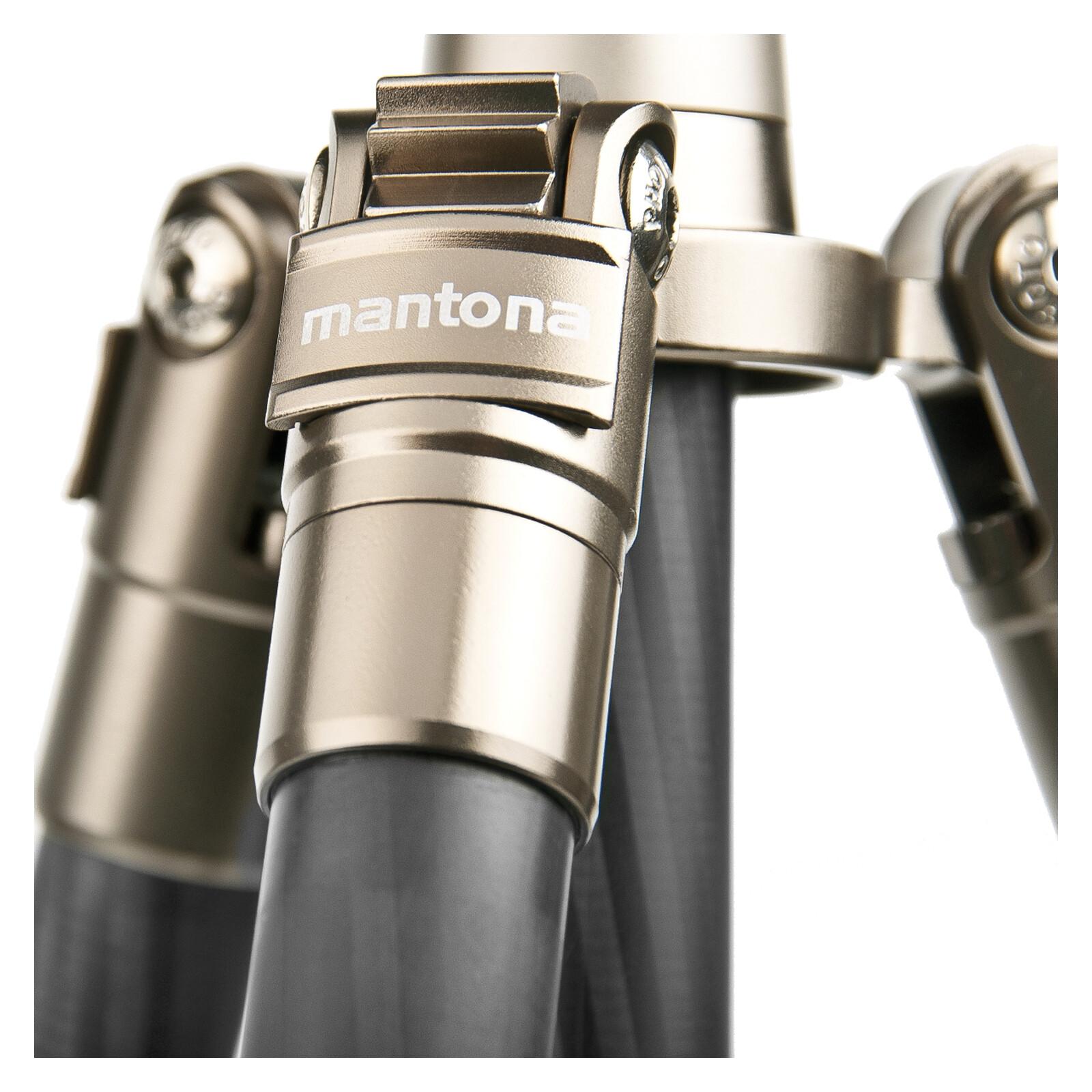 Mantona Titanium Carbon Stativ, 170cm