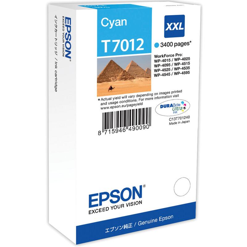 Epson T7012XXL Tinte Cyan 34,2ml