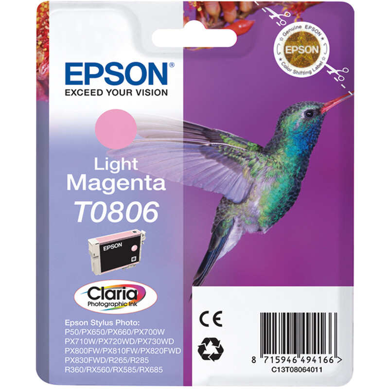 Epson T0806 Tinte Photo Light Magenta 7,4ml