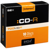 Intenso CDR 700MB/52x Slim 10er