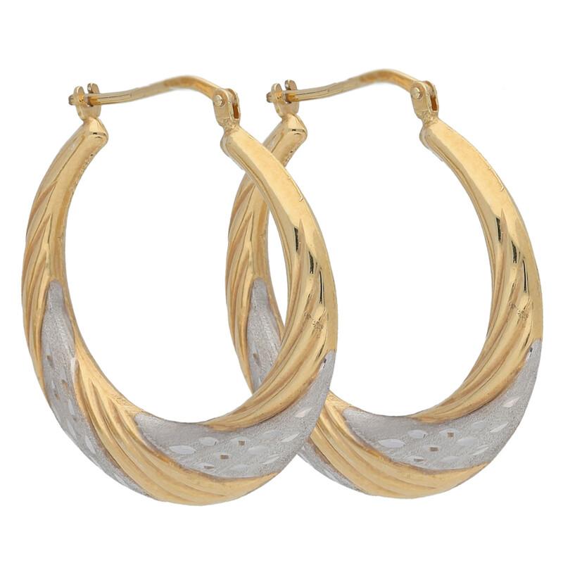Kreole vergoldet rhodiniert diamantiert