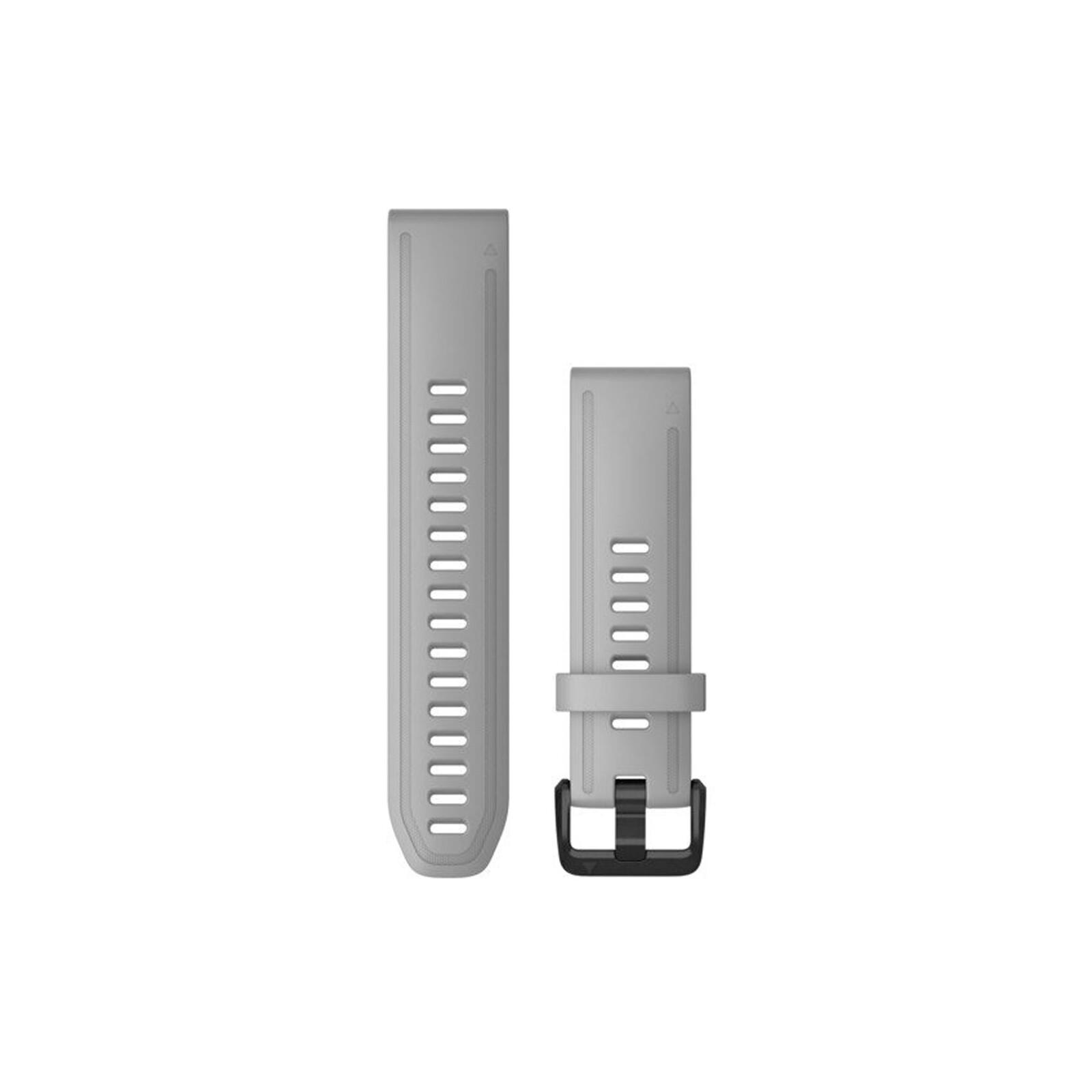 Garmin Quickfit Band 20mm Silikon hellgrau schwarz