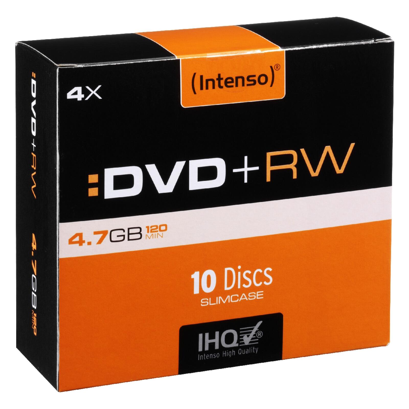 Intenso DVD+RW 4,7GB/4x Slim Case 10er