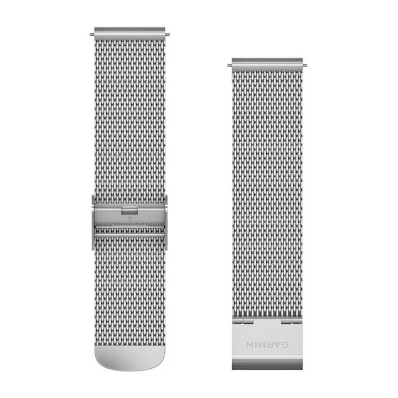 Garmin Uhrenarmband Vivomove 20mm Metall Silber/Milanese