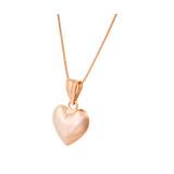 Goldkette Herz rosegold 45cm