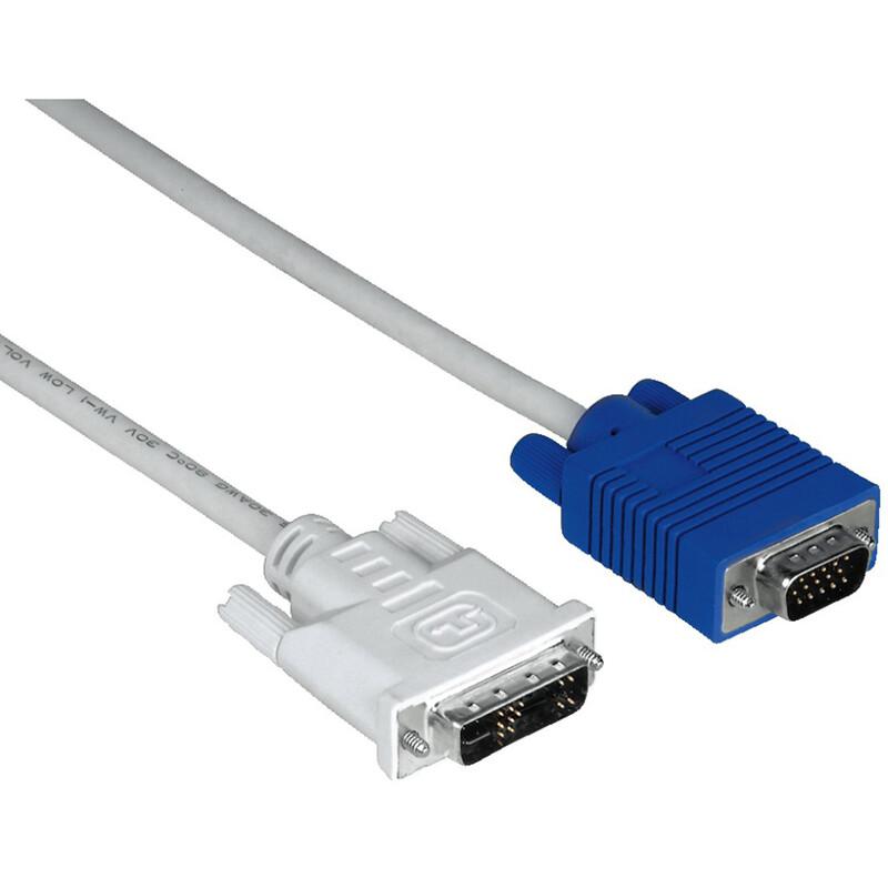 Hama 45075 Adapterkabel, VGA-Stecker - DVI-Stecker, geschirm