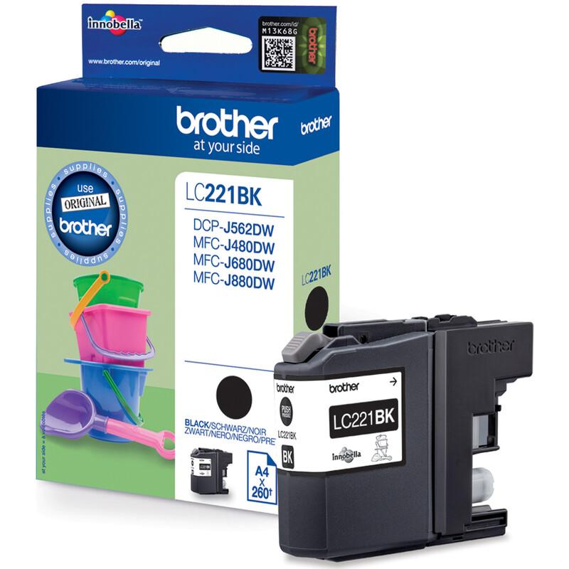 Brother LC221BK Tinte black