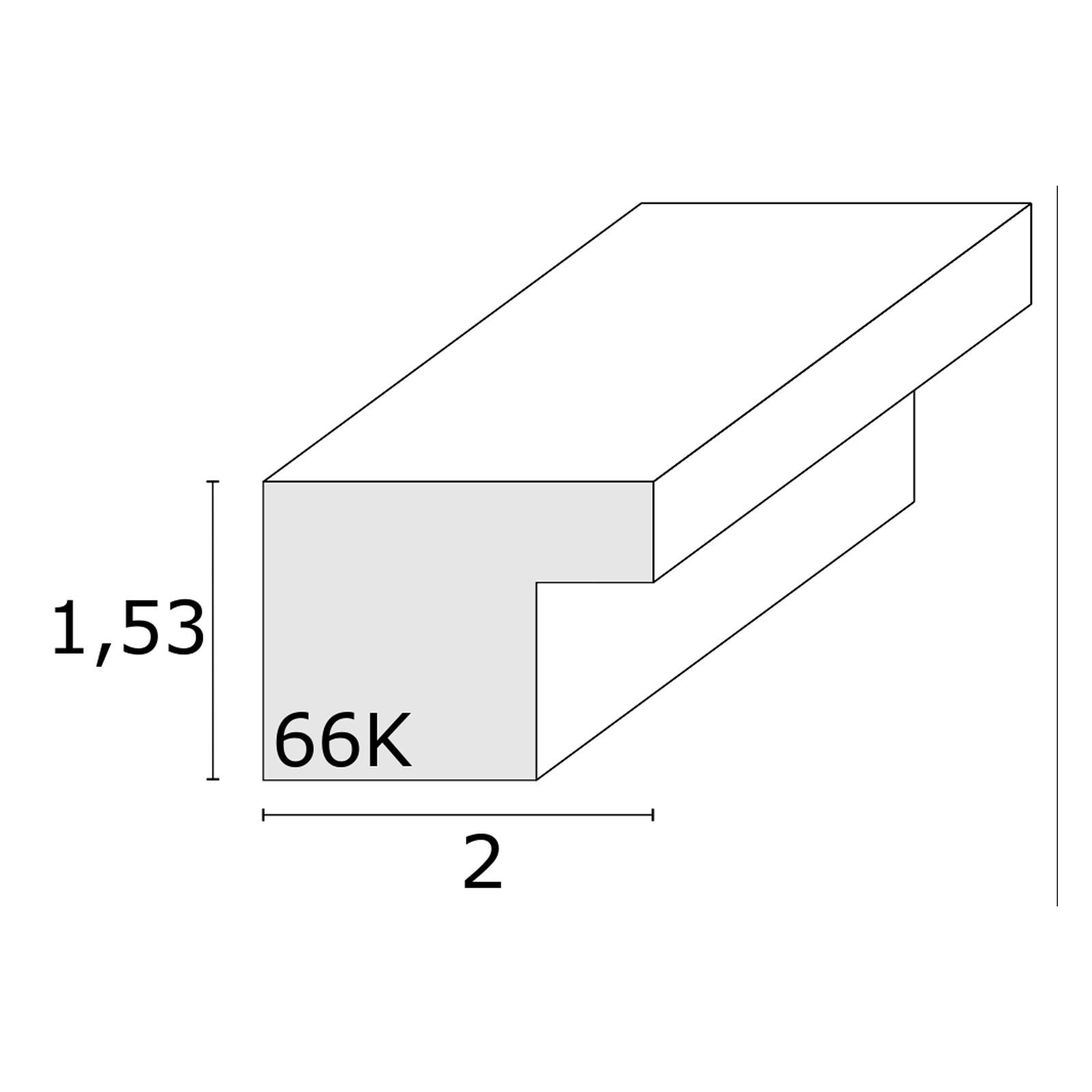 Rahmen Deknudt 30x40 silber mit 20x30 Passepartout