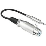 Hama 41908 Audio-Adapter XLR-Kupplung - 3,5-mm-Klinken-Steck