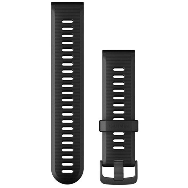 Garmin Band 22mm Silikon schwarz schiefergrau