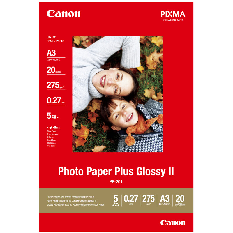 Canon PP-201 plus A3 20Bl. 260g glossy