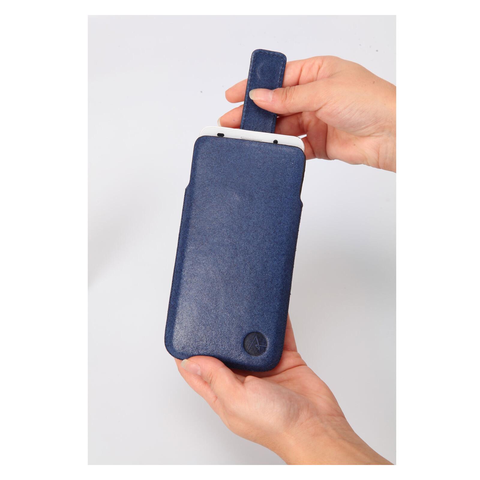 Axxtra Tasche Slide Pocket Size L blau